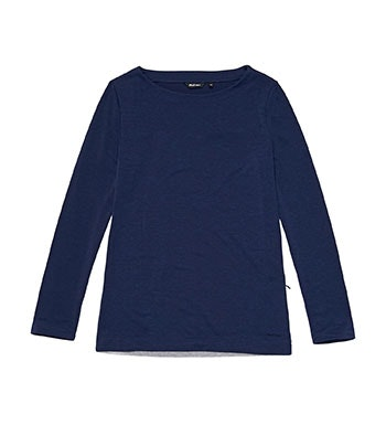 Lightweight, high-wicking top with contrast back panel.