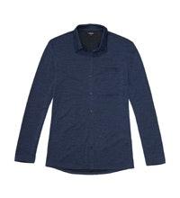 Lightweight merino-blend travel shirt.