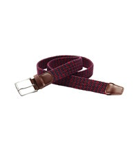 Durable, woven belt in a stretch material.