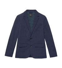 Single-breasted, 2-button wadded blazer.
