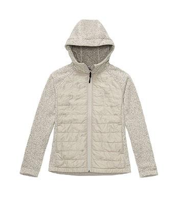 Lightweight, packable fleece jacket with insulated core.