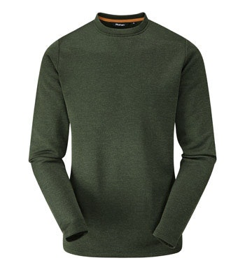 Classic crew-neck fleece.