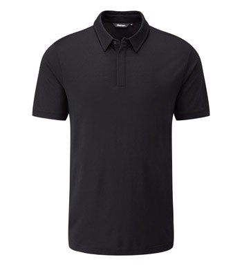 Warm, technical merino-blend polo.