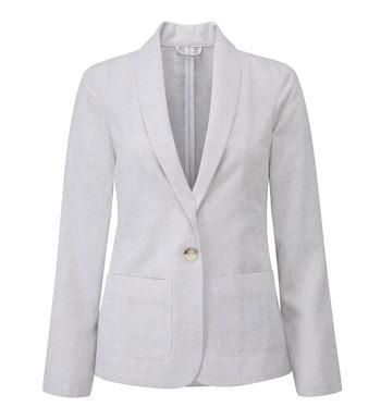 Smart, casual Performance Linen™ travel jacket.