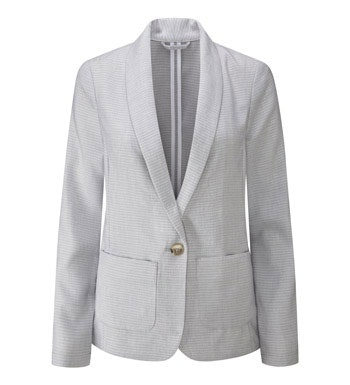 Smart, casual linen travel jacket.