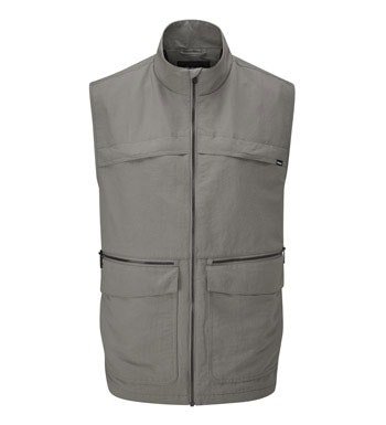 Rugged multi-pocketed travel vest.
