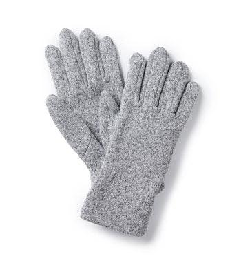 Quick-drying knit-effect fleece gloves.