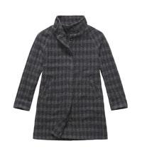 Technical, machine washable, wool-blend coat.