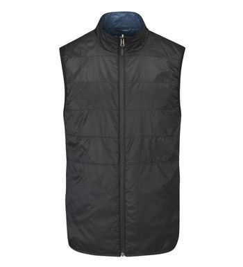 Lightweight, insulated fleece vest for travel and active outdoor wear.