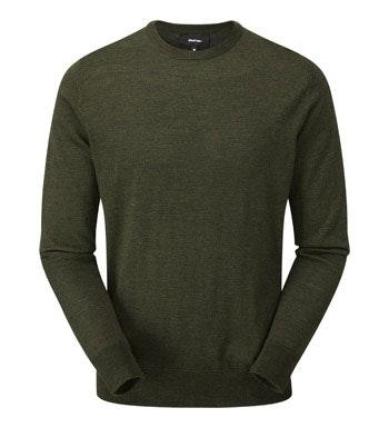 Classic, 100% merino crew-neck pullover.