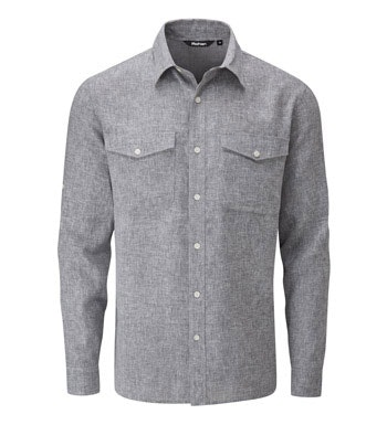 Crease resistant, linen-blend shirt.