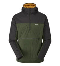 Medium weight, water-repellent pull-over style jacket.
