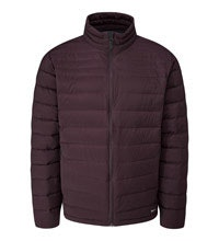 Down jacket designed for cold city weather.