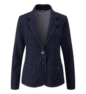 Lightweight, warm, wool blend jacket.