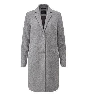 Wadded premium Italian wool blend washable coat.