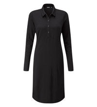 Technical wool travel dress