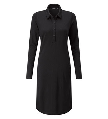 Technical wool travel dress