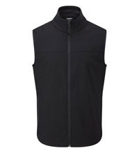 Warm, water-repellent stretch gilet for active outdoor use.