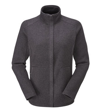 Technical knit effect fleece cardigan.