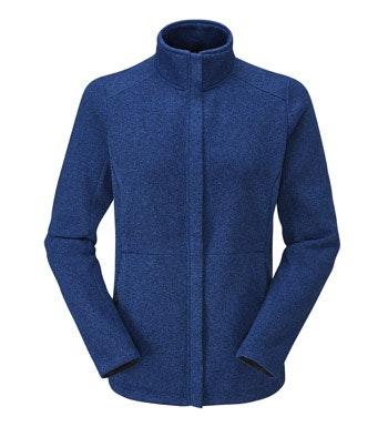 Technical knit effect fleece cardigan.