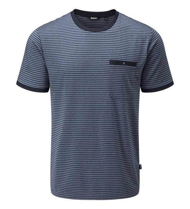 Stria Pocket T - Technical, cotton-feel short sleeve T-shirt.