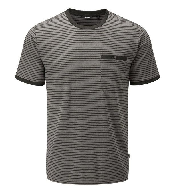Technical, cotton-feel short sleeve T-shirt.