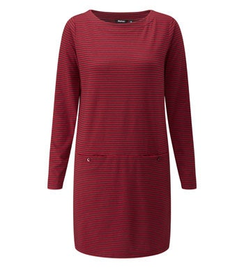 Cotton-feel tunic top made from a technical fabric.