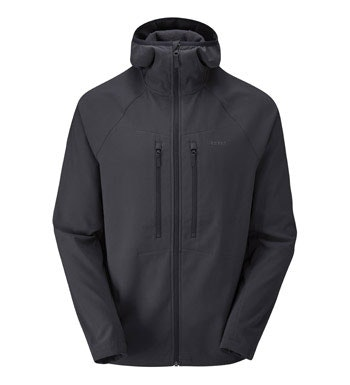 Softshell with stretch for active outdoor use.
