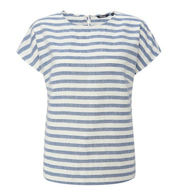 Simple linen-blend top.