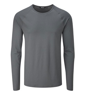 Lightweight, long-sleeved technical base layer.