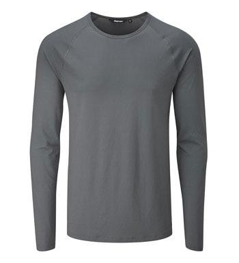 Lightweight, long-sleeved technical base layer.