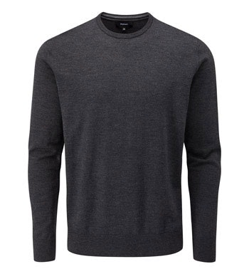 Stylish, knitted Merino Fusion Crew perfect for winter escapes.