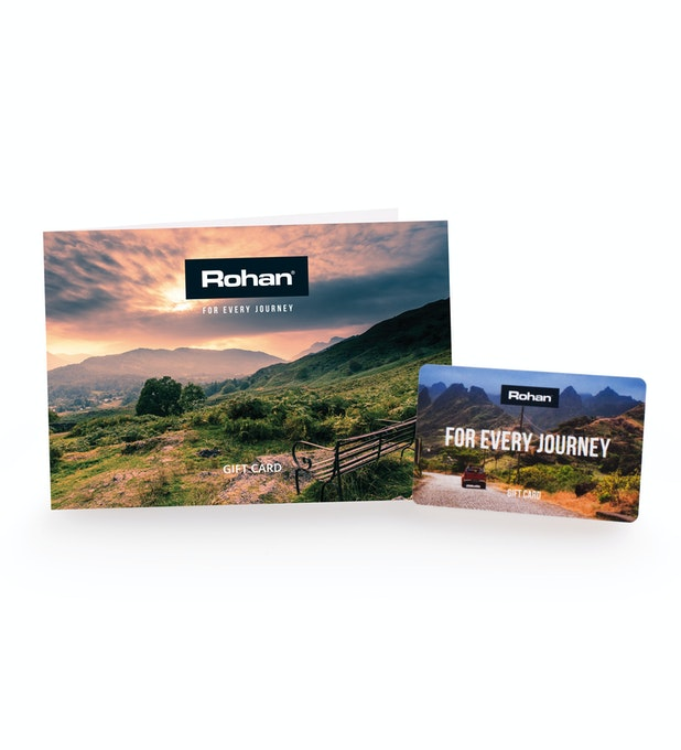 The Rohan Gift Card - No fuss. No risk. Redeemable in store, online and mail order.